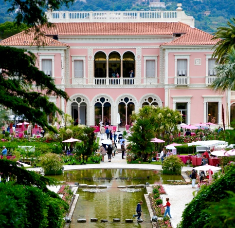 The beautiful Villa Ephrussi de Rothschild.
