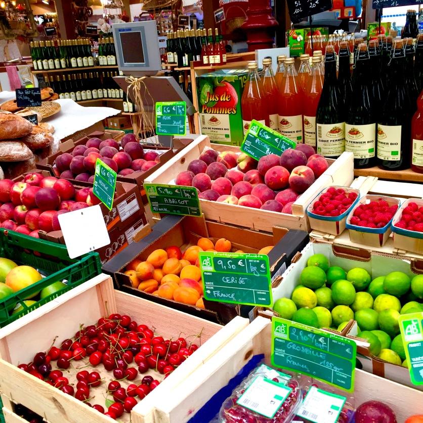Organic market in Colmar.